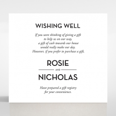 Clear Chic Charm Paper wedding gift registry invite