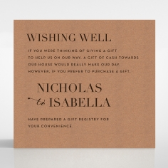Enchanting Imprint wishing well stationery invite card