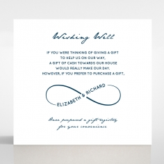Eternal Simplicity wedding stationery wishing well card