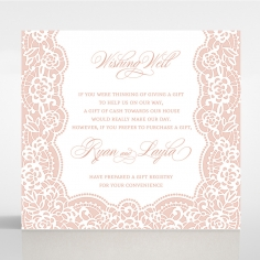 Floral Lace with Foil wedding stationery wishing well invite