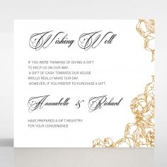 Flourishing Garden Frame wedding stationery gift registry enclosure invite card design