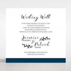 Forever Love Booklet - Navy wedding wishing well invite card design