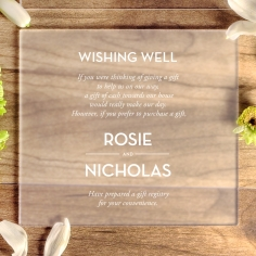 Frosted Chic Charm Acrylic gift registry enclosure card