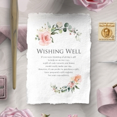 Garden Party wishing well stationery card design