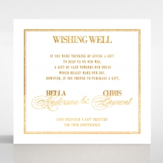 Gold Foil Baroque Gates wedding stationery wishing well enclosure invite card design