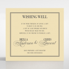 Golden Baroque Gates wedding stationery wishing well enclosure invite card