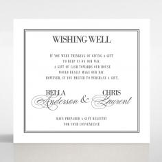 Golden Baroque Gates wedding stationery wishing well enclosure invite card design
