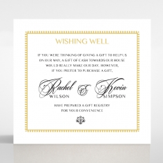 Ivory Doily Elegance gift registry card design