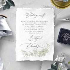 Love Estate wishing well invitation card design