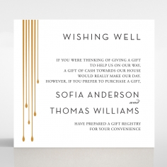 Luxe Intrigue wedding stationery gift registry enclosure invite card