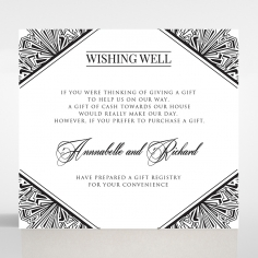 Paper Ace of Spades wedding stationery gift registry enclosure invite card design