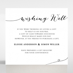 Paper Infinity wedding stationery gift registry invitation card design