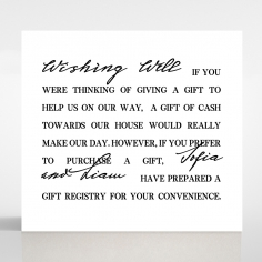 Paper Modern Romance wedding gift registry enclosure invite card