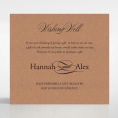 Precious Moments wedding wishing well invitation card design