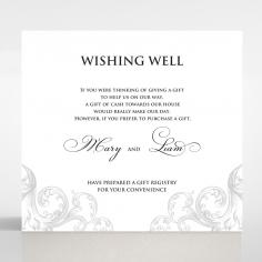Regally Romantic wedding wishing well enclosure invite card