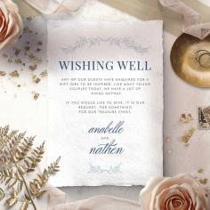 Romantic Soiree wishing well wedding invite card design