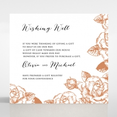 Rose Romance Letterpress gift registry invite card