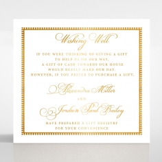Royal Lace with Foil wishing well stationery card design