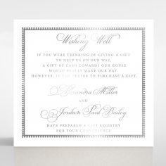 Royal Lace with Foil wishing well stationery invite