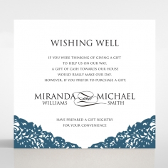 Royal Prestige wedding wishing well invitation