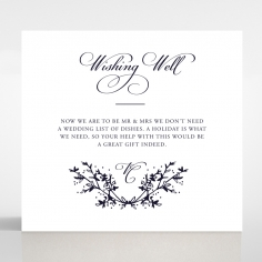 Secret Garden wedding gift registry enclosure invite card