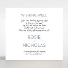 Silver Chic Charm Paper wedding gift registry enclosure card design
