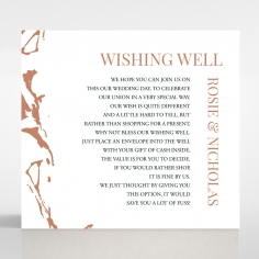 Stonework wishing well enclosure stationery invite card