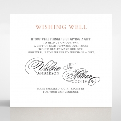 Timeless Romance wishing well stationery card design