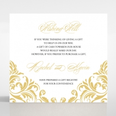 Victorian Extravagance wishing well stationery card