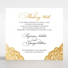 Vintage Prestige with Foil wedding stationery wishing well invitation