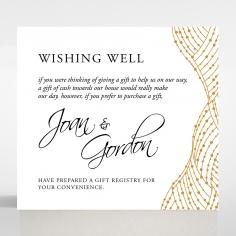 Woven Love Letterpress gift registry wedding card