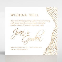 Woven Love Letterpress with foil gift registry invitation card