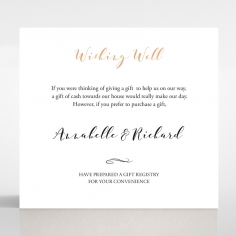 Written In The Stars - Navy wedding wishing well enclosure card design