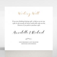 Written In The Stars - Navy wedding wishing well enclosure card design