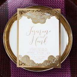 Breathtaking Baroque Foil Laser Cut wedding invitations FTG120001-KI-GG