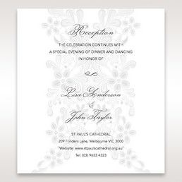 White Laser Cut Floral Wrap - Reception Cards - Wedding Stationery - 78