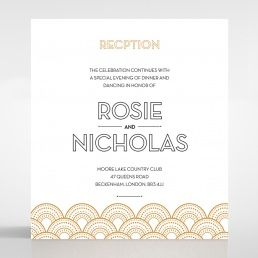 Contemporary Glamour reception card DC116059-YW