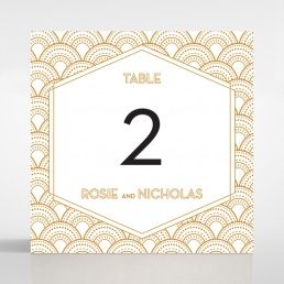 Contemporary Glamour table number card DT116059-YW