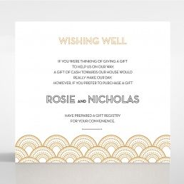 Contemporary Glamour wishing well card DW116059-YW