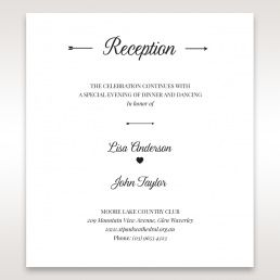Wedding reception cards matching styles embossed frame reception card dc116025 filmwisefo