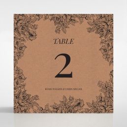 Hand Delivery table number card DT116063-NC