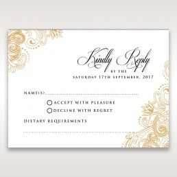imperial glamour without foil rsvp card dv116022 dg