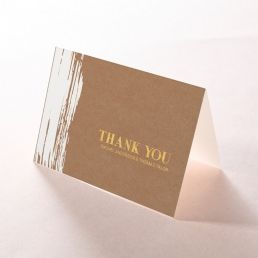Rustic Brush Stroke  with Foil thank you card DY116091-TR-GG