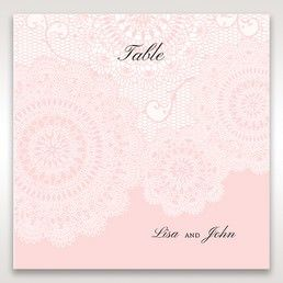 Pink Tri-Fold Laser Cut - Table Number Cards - Wedding Stationery - 28