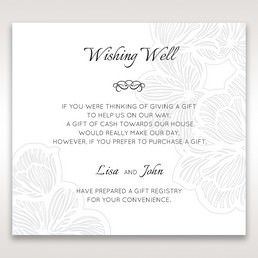 White Laser Cut Floral Lace - Wishing Well / Gift Registry - Wedding Stationery - 8