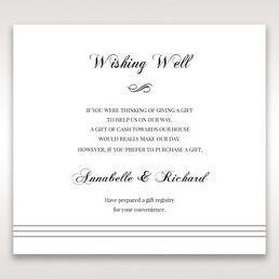 White Modern Pocket-Grey - Wishing Well / Gift Registry - Wedding Stationery - 66