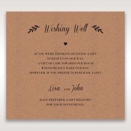 Brown Rustic - Wishing Well / Gift Registry - Wedding Stationery - 24