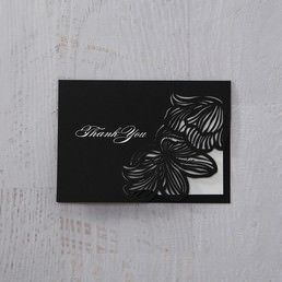 White Laser Cut Floral Lace - Thank You Cards - Wedding Stationery - 29