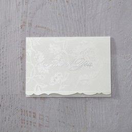 White Enchanted Folral Pocket III - Thank You Cards - Wedding Stationery - 35