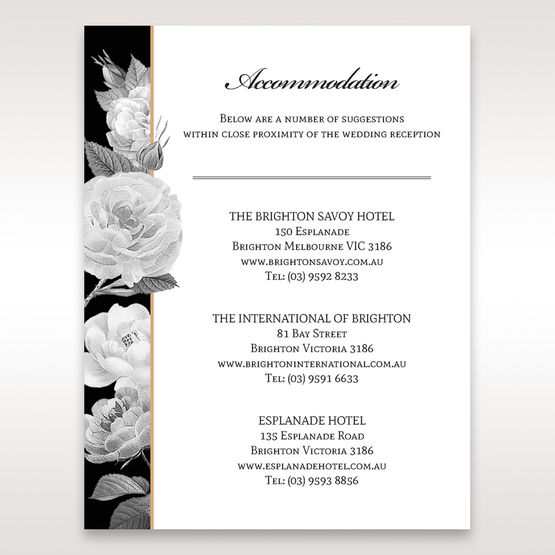 Black Gold Poppies in a Rose Garden - Accommodation - Wedding Stationery - 83